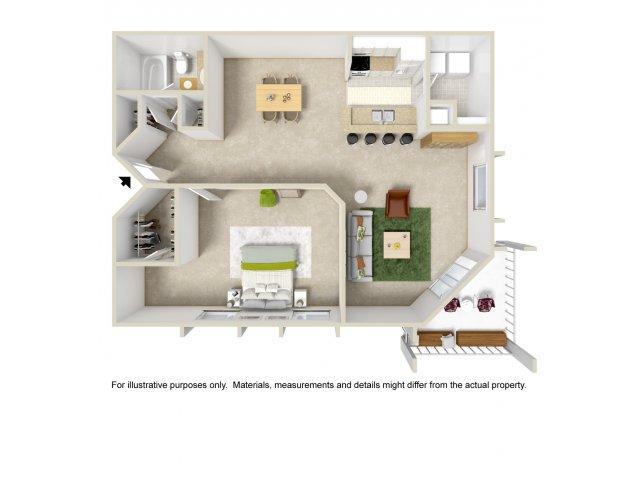 Floor Plan 2 | Apartment In Altamonte Springs FL | Lakeshore at Altamonte Springs