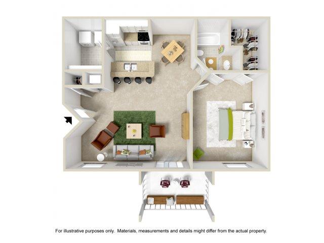 Floor Plan 1 | Apartment For Rent Altamonte Springs FL | Lakeshore at Altamonte Springs
