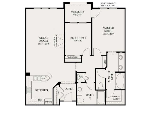 Floor Plan | The Carlyle at Colton Plaza