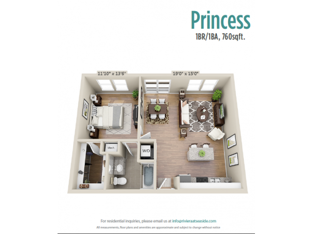 Floor Plan 3 | Apartments Mount Pleasant SC | Riviera at Seaside