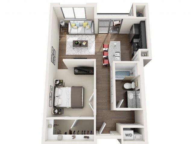 Studio Floor Plan | Park 28