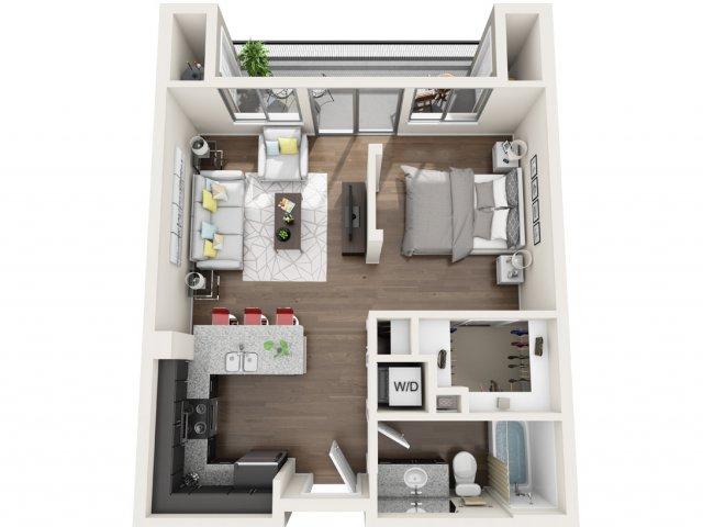 Studio Floor Plan 2 | Park 28