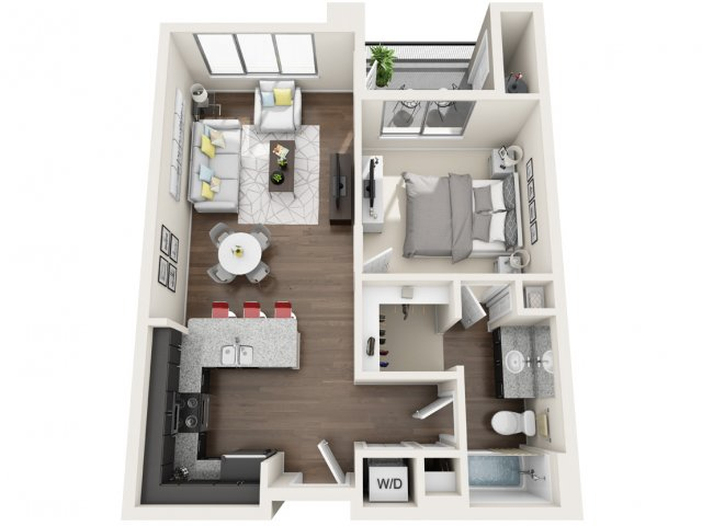 1 Bedroom Floor Plan | Park 28
