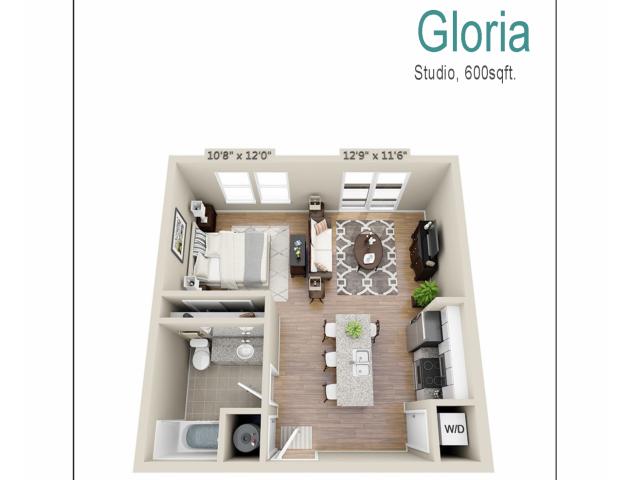 Floor Plan 2 | Mount Pleasant SC Apartments | Riviera at Seaside