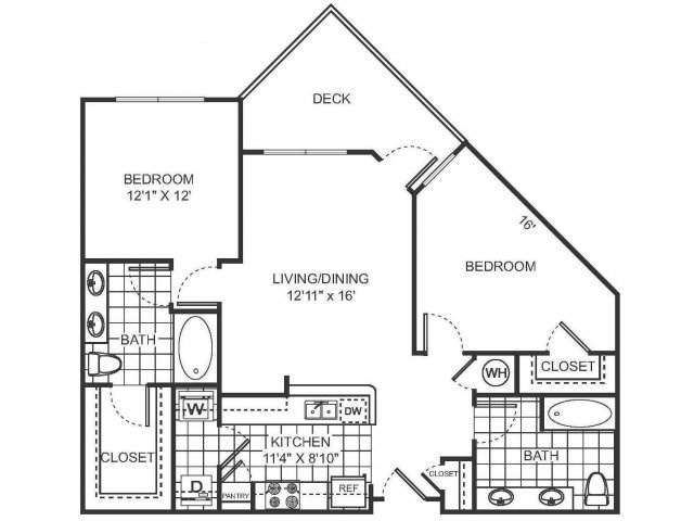 2 Bedroom Floor Plan | Sorelle