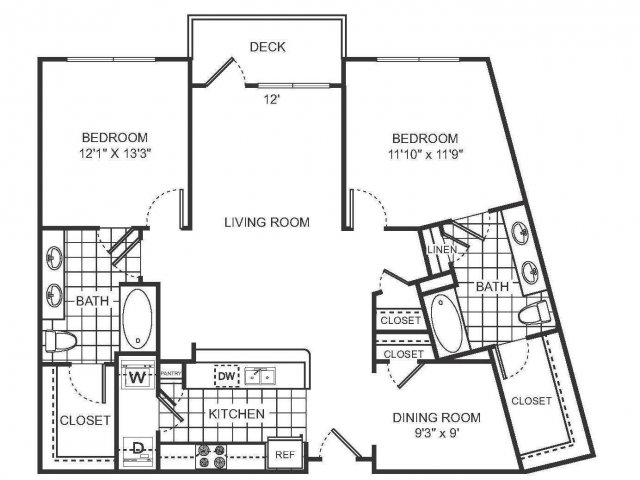 2 Bedroom Floor Plan | Sorelle 2