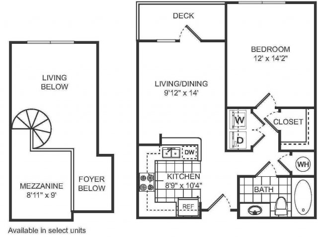 1 Bedroom Floor Plan | Sorelle