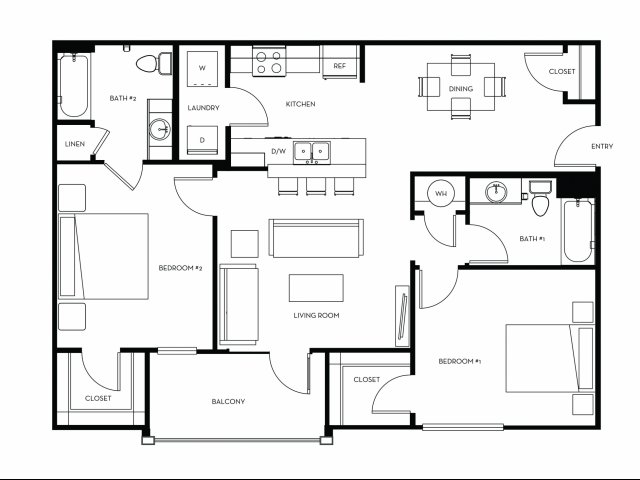 Floor Plan 2 | Heights at Converse