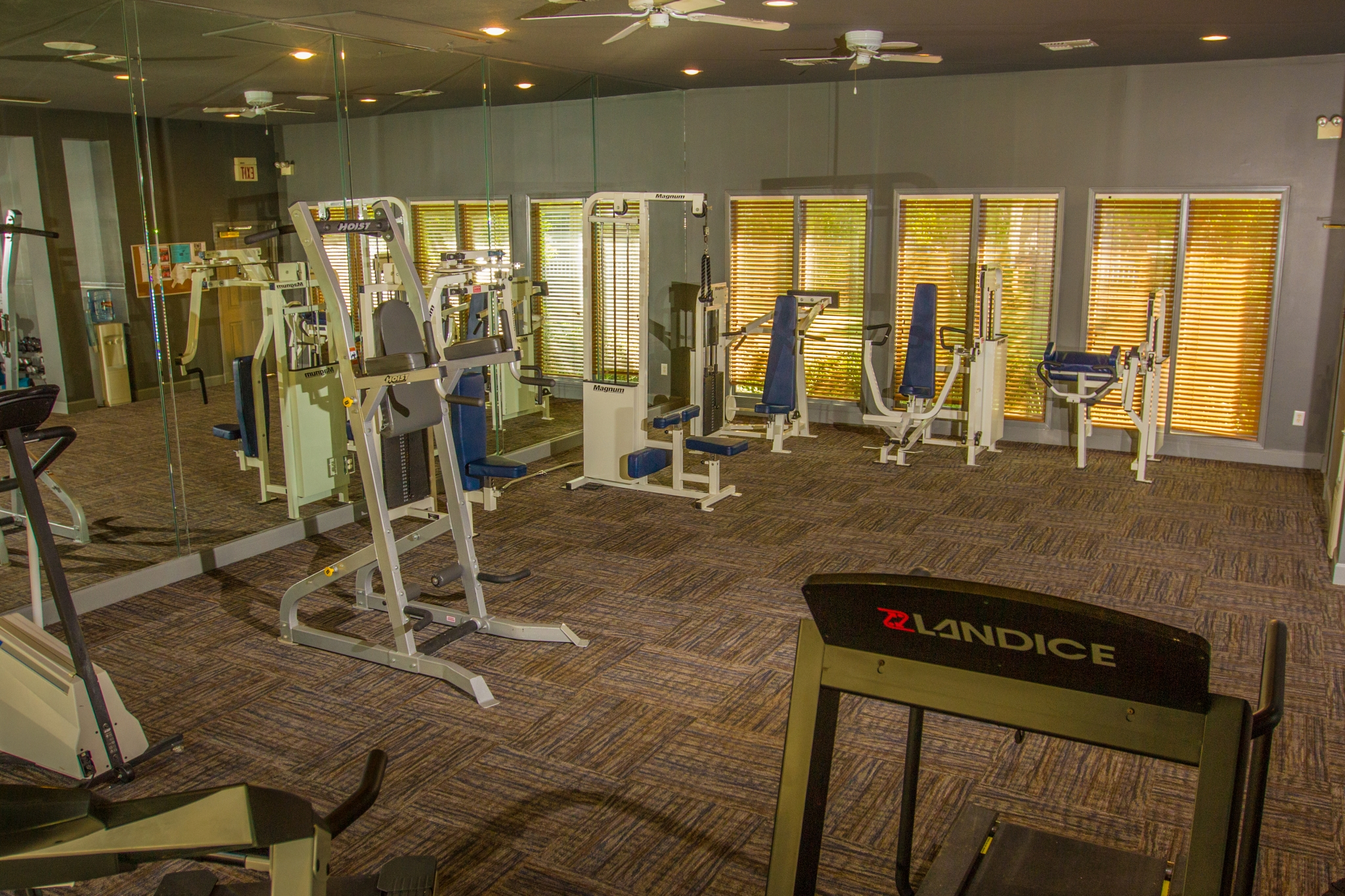 Fitness Center at The Lodge at River Park Apartments