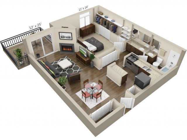 Floor Plan 3 | The Lex at Lowry