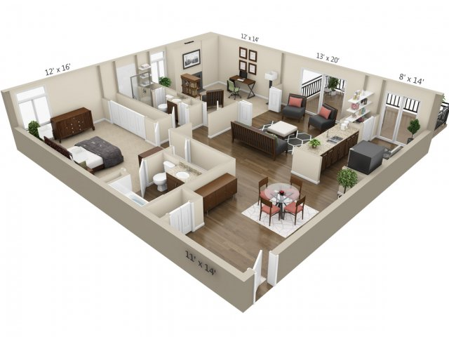 Floor Plan 4 | The Lex at Lowry