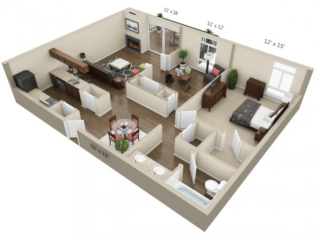 Floor Plan 5 | The Lex at Lowry
