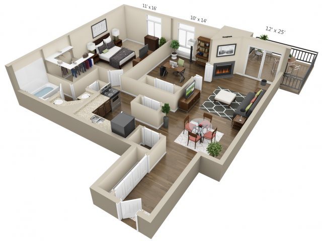 Floor Plan 6 | The Lex at Lowry