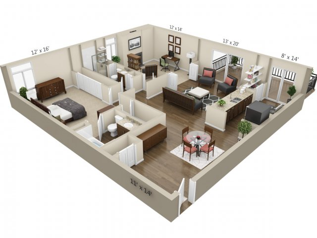 Floor Plan 7 | The Lex at Lowry