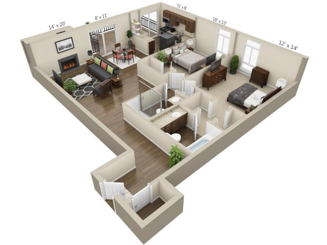 Floor Plan 8 | The Lex at Lowry