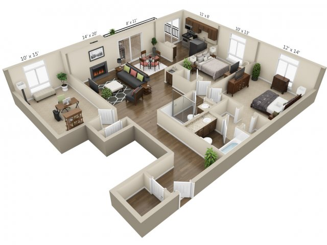 Floor Plan 12 | The Lex at Lowry