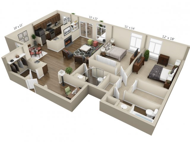 Floor Plan 13 | The Lex at Lowry