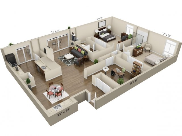 Floor Plan 14 | The Lex at Lowry