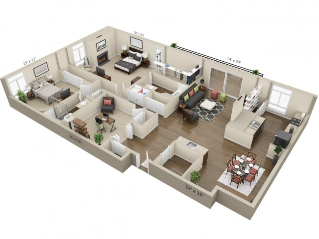 Floor Plan 15 | The Lex at Lowry
