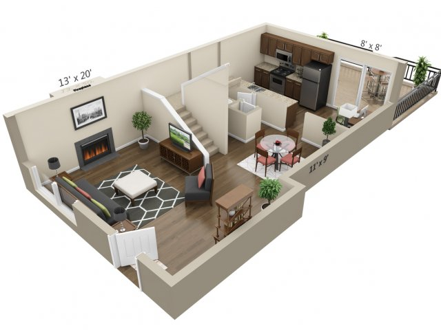 Floor Plan 19 | The Lex at Lowry