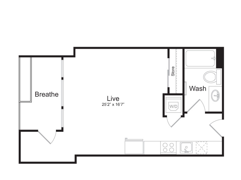 Studio Floor Plan | Mark on 8th