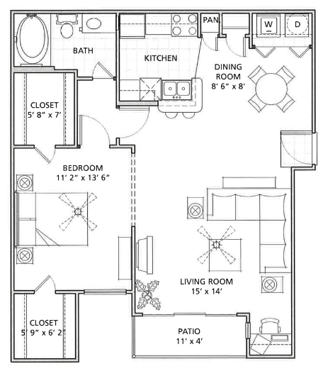 Floor Plan 4 | Vail Quarters