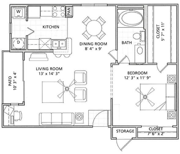 Floor Plan 2 | Vail Quarters