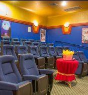 Community Theater at The Lodge at River Park Apartments
