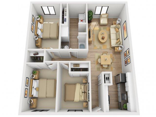 3 Bedroom Floor Plan   Village 185