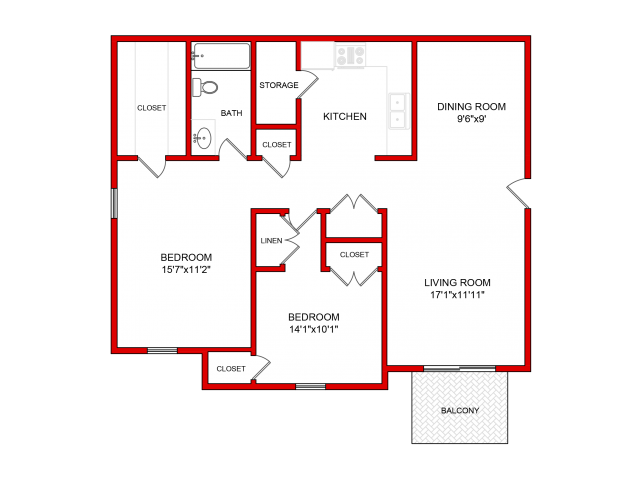 2 Bedroom Floor Plan | Villages of Wildwood Phase lll