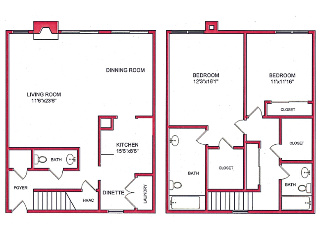 2 Bedroom Floor Plan | Villages of Wildwood Phase lll 2
