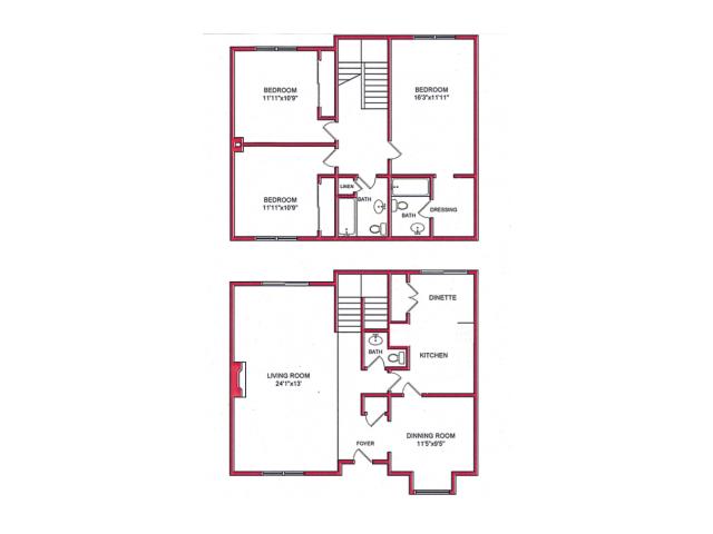 3 Bedroom Floor Plan | Villages of Wildwood Phase lll
