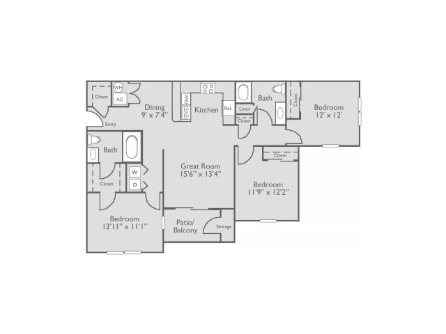 Floorplan 3 | Apartments For Rent In Oklahoma City
