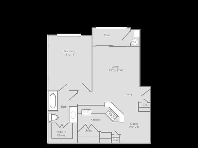 1 Bedroom Floor Plan | Toscana