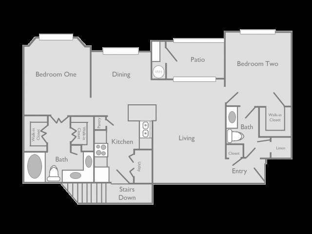 2 Bedroom Floor Plan | Toscana