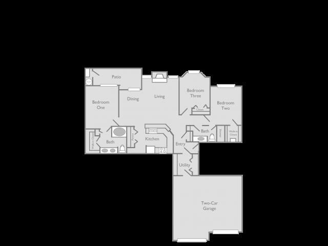 3 Bedroom Floor Plan | Toscana