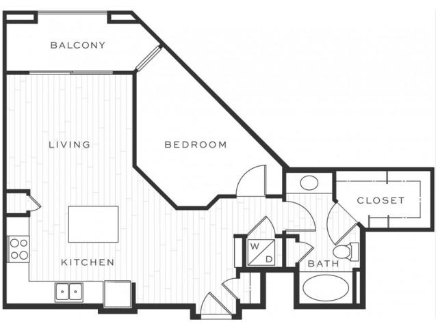 1 Bedroom Floorplan | Luxe Scottsdale 6
