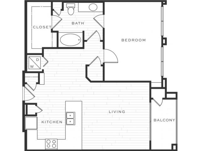 1 Bedroom Floorplan | Luxe Scottsdale 9