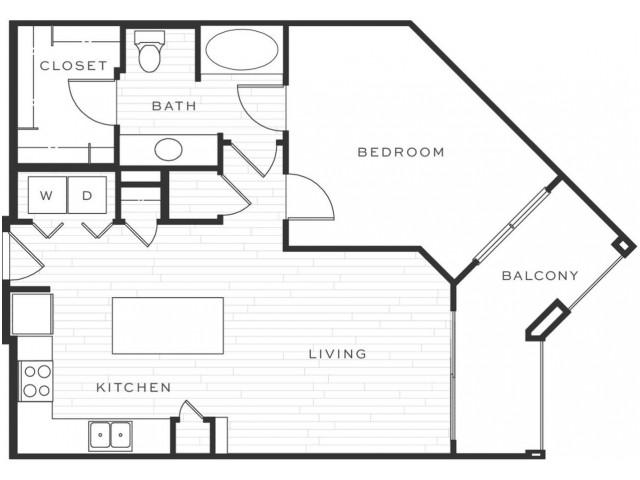 1 Bedroom Floorplan | Luxe Scottsdale 10