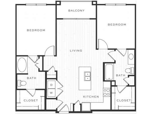 2 Bedroom Floorplan | Luxe Scottsdale