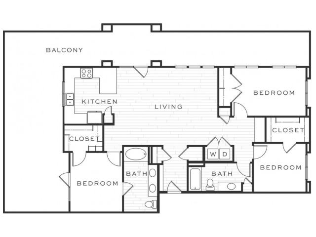 3 Bedroom Floorplan | Luxe Scottsdale