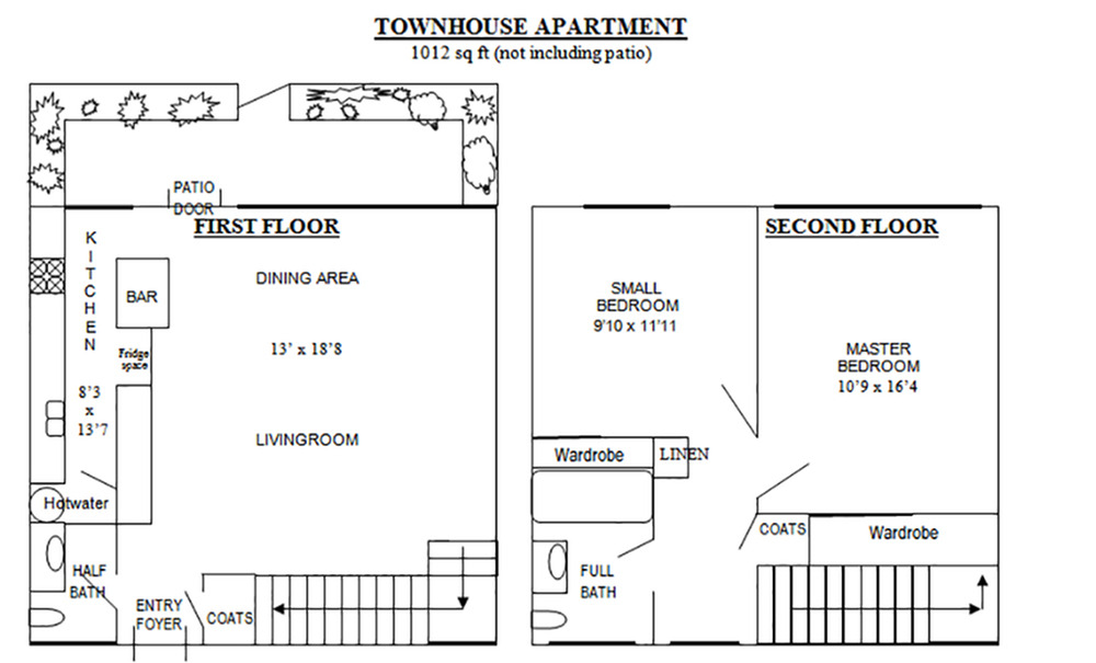 Two Bedroom Floorplans | Patio Gardens 1