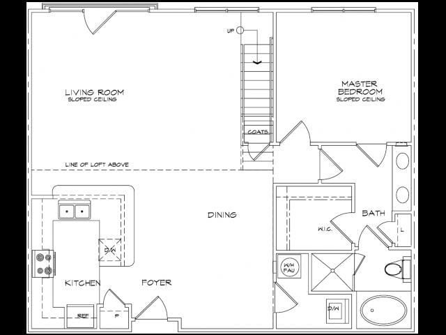 Two Bedroom | Pencil Factory Flats