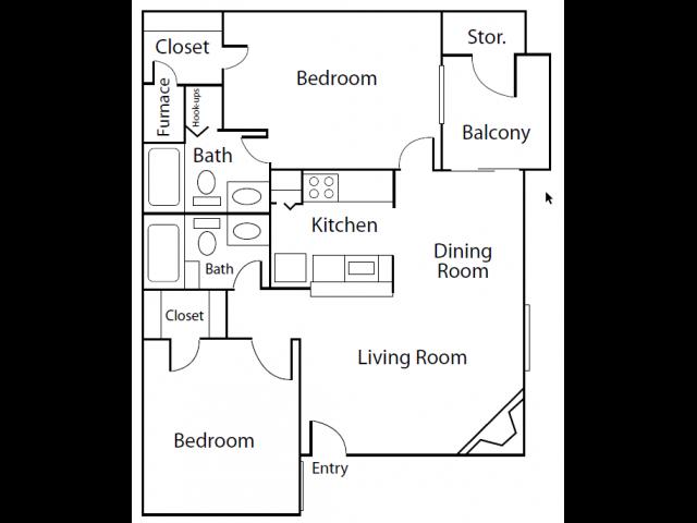 2X2B | Apartments In Thornton | Skyline