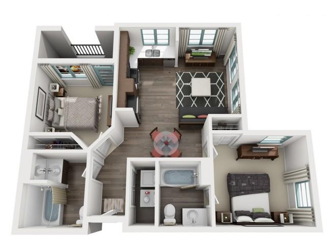 5Floor Plan 2 | Luxe