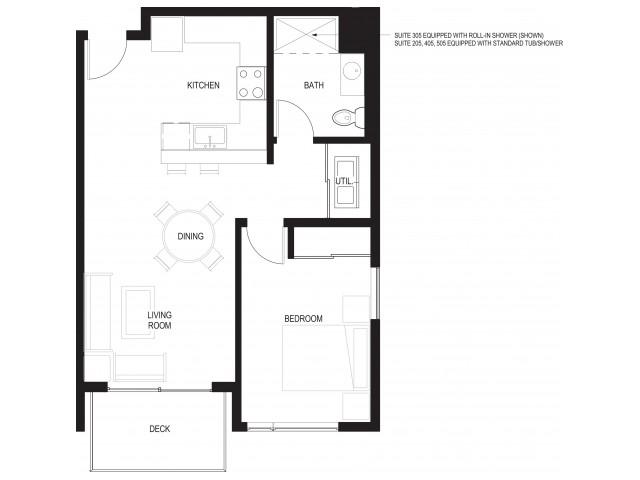 Floor Plan 5 | Renton Apartments For Rent