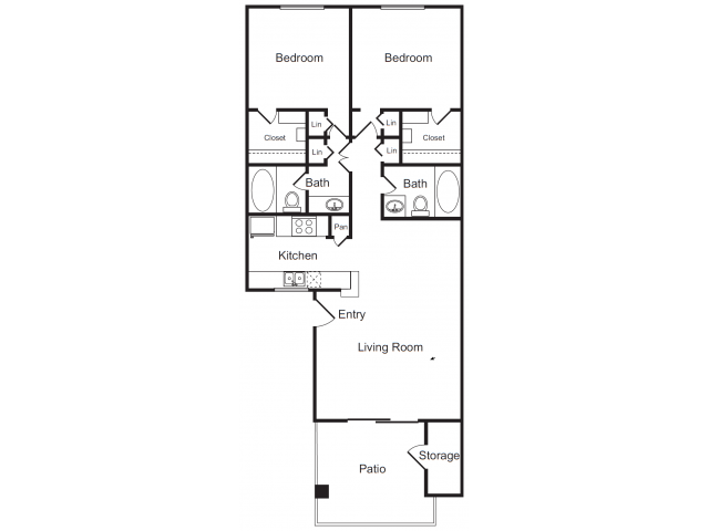 One Bedroom Apartments | Flagstone