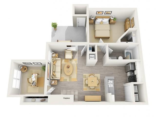 Floor Plan 5 | Keystone Apartments