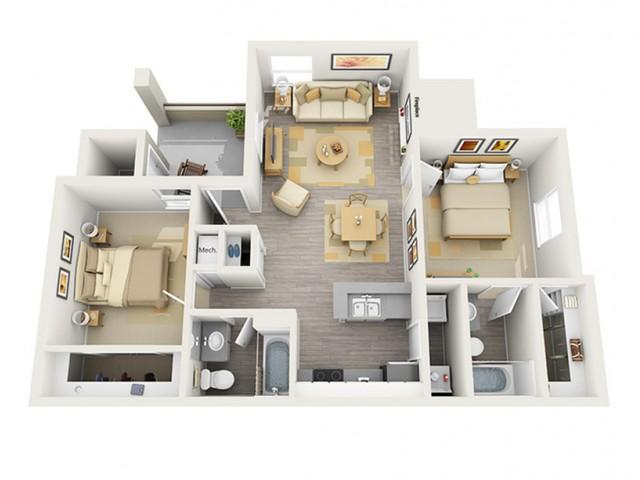 Floor Plan 6 | Keystone Apartments