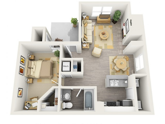Floor Plan 3 | Keystone Apartments